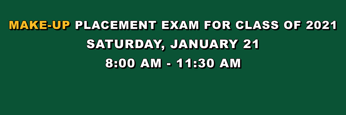 Attention 8th Graders Who Missed Original Placement Exam