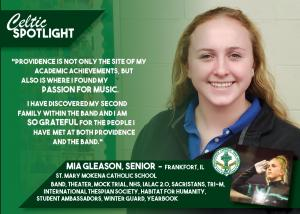 Celtic Spotlight Mia Gleason